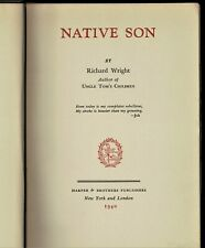 Native Son by Richard Wright 1940 First Edition, Second Printing