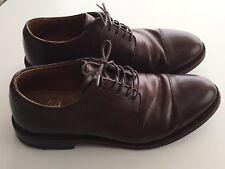 JCREW Ludlow Cap Toe Bluchers Leather Shoes $360 8.5 Cigar Brown G1987