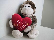 """18"""" Dan Dee MONKEY W/ HEART Plush Stuffed Animal"""