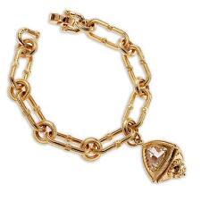 New Rebecca 10.86ctw Hydro Quartz Trillion Amulet Bracelet
