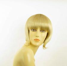 Perruque femme courte blond doré méché blond très clair  ALISEE 24BT613