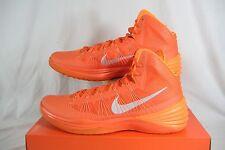 "New Mens 18 NIKE ""Hyperdunk 2013 TB"" Orange High Top Basketball Shoes $140"