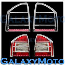 07-10 JEEP COMPASS Taillight Tail Light trim Bezel+RED LED Light Bar Cover
