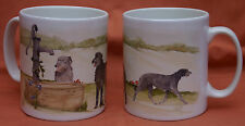 SCOTTISH DEERHOUND DOG MUG OFF TO THE DOG SHOW WATERCOLOUR PRINT SANDRA COEN ART
