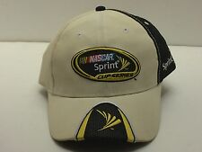 New Nascar Sprint Cup Series Winner's Circle Cap Beige Black Yellow Velcro Back