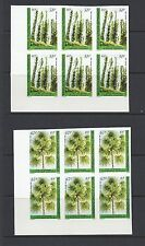 NEW CALEDONIA 1984 PLANTS (51F and 67F) IMPERF blocks of 6 VF MNH