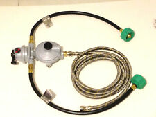 Propane Regulator 2 way Automatic Changeover Stainless Braided Hoses 5' hose LP