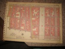 ANTIQUE 1955 LOWER EAST SIDE CHINATOWN NEW YORK CITY MANHATTAN MAP LARGE PARK NR