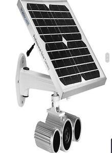 Solar powered wifi cctv camera