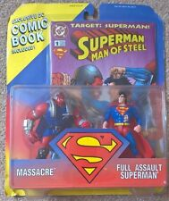 Dc Direct Superman vs Massacre 5 inch figure rare 1995