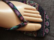 Lot of 6 sturdy hippie boho sturdy thongs.Non slip sole.SUPER BARGAIN.save money