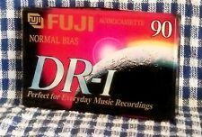 NOS Fuji DR-1 blank cassette recording tape 90 minute, sealed.