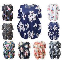 Womens Ladies Cut Out Cold Shoulder Batwing Long Top Tunic Dress Plus Size 8-26
