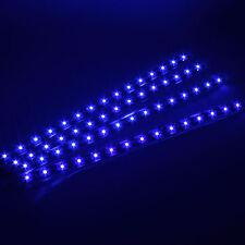 4x Blue 12 LEDs 30cm 5050 SMD LED Strip Light Flexible Waterproof 12V DIY Car
