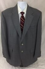 STAFFORD Men's 44R Sport Coat Blazer Gray Silver Metal Button Wool Blend