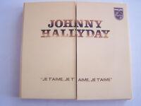 CD ALBUM DE JOHNNY HALLYDAY , JE T ' AIME , FICHE + LIVRET COMME NEUF