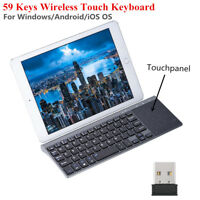 Ultra Thin Mini Wireless 2.4Ghz Keyboard with Touchpad + USB Receiver For Laptop