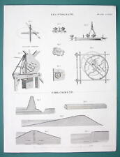 DRAWING Instruments Elliptograph + Embankments - 1840 Fine Quality Print