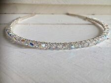 Clear Sparkly Swarovski Crystal Headband Hairband Alice Band Wedding Bridal