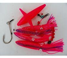 Squid Daisy Chain Bait Rig Bird Trolling Lure squid Tuna - Pink