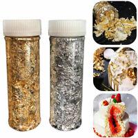 2g Reines Goldfolie Essbare Blattgold Süßigkeiten Kuchen Backen Papier Dekor