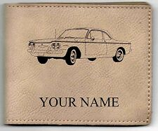 Corvair Early Cpe Leather Billfold With Drawing and Your Name On It-Nice Quality