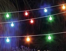 Lichterkette Bunte Kugeln 50 Stück LED Beleuchtung Party Garten Outdoor L.9,5 m