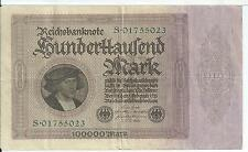 German Cvurrency 100,000 marks 1 Feb 1923 Berlin Reichsbanknote Pick #83