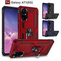 For Samsung Galaxy A71(5G) A51(5G) Shockproof Hybrid Stand Hard Case Ring Cover