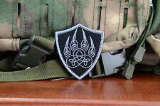 Slavic Veles God Symbol Wolf Paw, Veles Sigil Embroidered patch