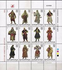 Albania 2005. National folk costumes. Set Sheet MNH