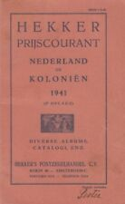 Hekker Prijscourant Nederland en Koloniën 1941 (2e oplage)