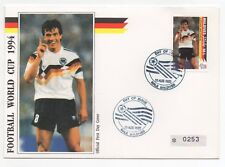 1992 MALDIVES First Day Cover 1994 WORLD CUP Matthäus Germany Numbered