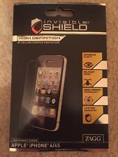 ZAGG Invisible Shield ~ High Definition ~ Case Friendly iPhone 4/4S Brand New
