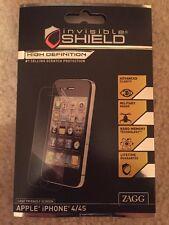 ZAGG Invisible Shield ~ HD ~ Case Friendly iPhone 4/4s BRANDNEU