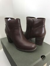 TIMBERLAND WOMEN'S RUDSTON ANKLE FULL GRAIN LEATHER  DARK BROWN BOOTS SIZE 8.5