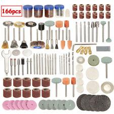 "166x Rotary Power Tool Set 1/8"" Shank Electric Grinding Sanding Polish Accessory"