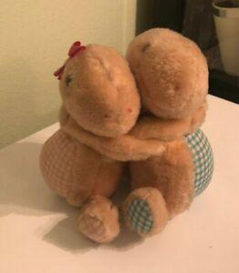RUSS BERRIE TURTLE LOVE HUGGING BOY & GIRL TURTLES PLUSH Vintage 842
