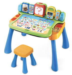 NEW -VTech Explore & Write Activity Desk EASY Transforms into Easel & Chalkboard
