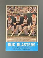 1963 Topps #18 Buc Blasters W/ Roberto Clemente Puttsburgh Pirates HOF EXMT-NM
