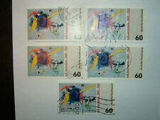 1989 WEST GERMANY WILLI BAUMEISTER STAMPS x 5 VFU (sg2261)