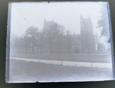 RARE VICTORIAN GLASS PLATE NEGATIVE  possibly BRISTOL cathedral. college green?