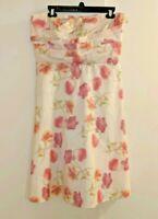 Banana Republic sz 12 floral strapless dress