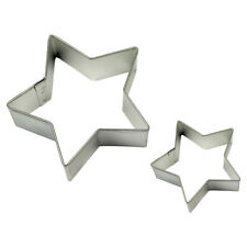 Pme Cake Baking Metal Star Space Cookie Shape Cutter Pack Of 2 Small & Large