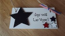 Chalkboard Countdown to Las Vegas Holiday sign plaque best friend gift USA sign