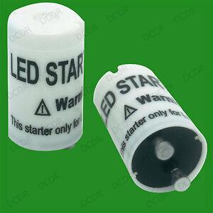 6x Starter Fuse; Replace Fluorescent Tube Light for LED T8 Lamp Lightbulb