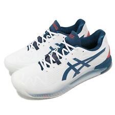 Asics Gel-resolución 8 2E Ancho Blanco Azul Rojo zapatos tenis para hombres 1041A113-103