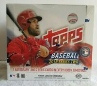 2018 TOPPS SERIES 2 FACTORY SEALED HOBBY JUMBO BOX FREE SHIPPING