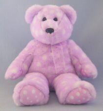 "Bravo Beanie Buddies Collection TY Lavender Polk-A-Dot Retired 2003 Ribbon 14"""