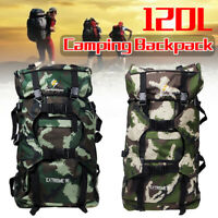 120L Outdoor Military Tactical Assault Backpack Camping Hiking Shoulders